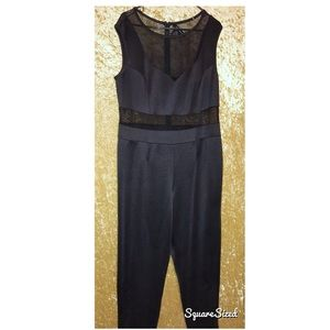 Just Meshing With You Black Romper